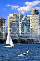 Sailing in Toronto harbor