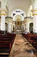 Church interior in Puerto Vallarta, Jalisco, Mexico