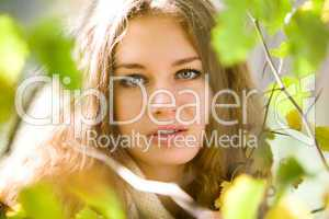 young beauty woman autumn