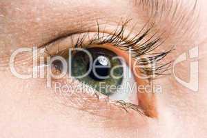 woman macro eye