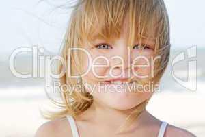 face of little girl