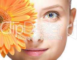 beauty woman closeup portrait
