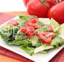 römersalat mit tomate (A.Bogdanski)