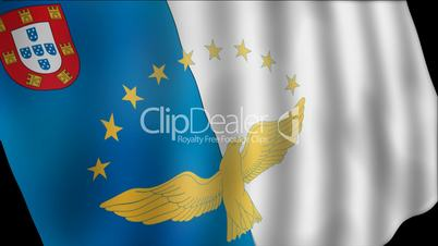 flag azores royalty video stock footage