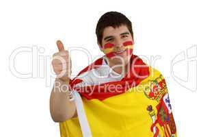 Spanischer Fussballfan