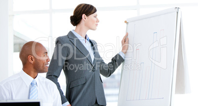 Portrait of a self-assured businesswoman in a meeting