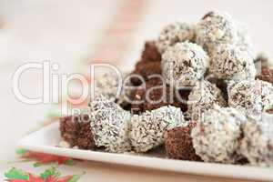 Delicious chocolate truffels
