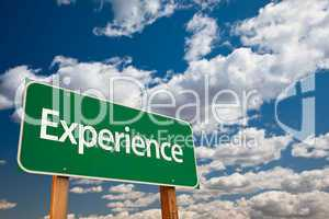 Experience Green Road Sign
