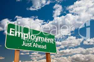 Employment Green Road Sign