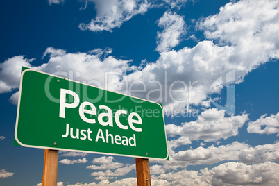 Peace Green Road Sign
