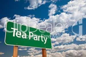 Tea Party Green Road Sign