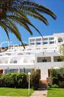 Main building of luxury hotel, Crete, Greece