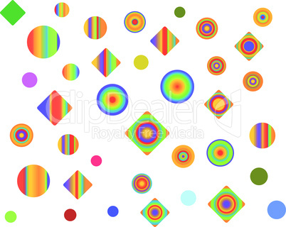 color figures on white background vector