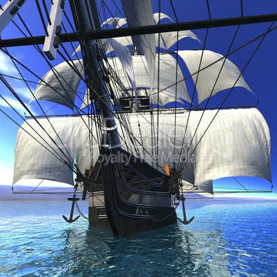 Segelschiffe auf dem meer  Altes Segelschiff auf dem Meer: Lizenzfreie Bilder und Fotos
