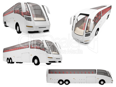 Collage of isolated concept bus