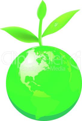 green globe concept
