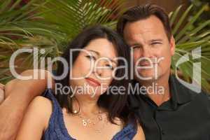 Attractive Hispanic and Caucasian Couple
