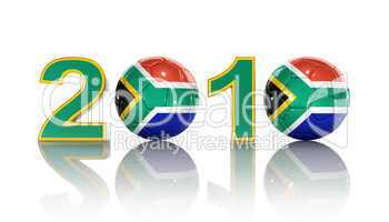 2010 Soccer World Cup South Africa. On White