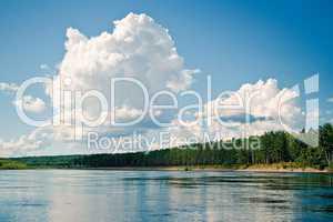 Cumulus above Dep river