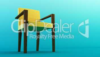 modern chair 3d rendering