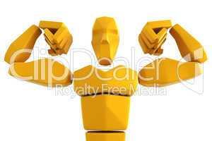 3d symbolic athlete
