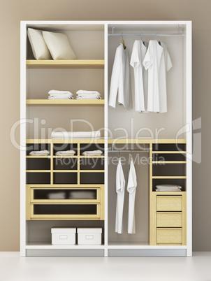 Inside the modern closet 3d rendering im genes y fotos - Vestir un armario por dentro ...