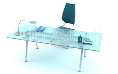director's office 3d rendering