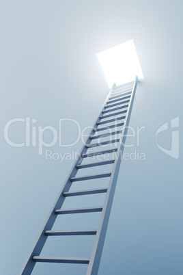 3d ladder leading to out