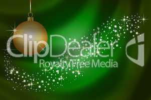 Festlicher Hintergrund mit Weihnachtskugel