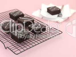 Chocolate Mud Cake Slices
