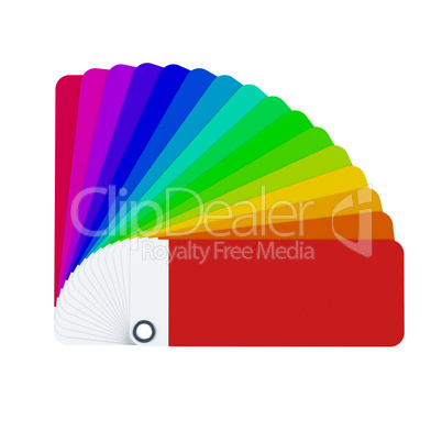 isolated color card 3d rendering