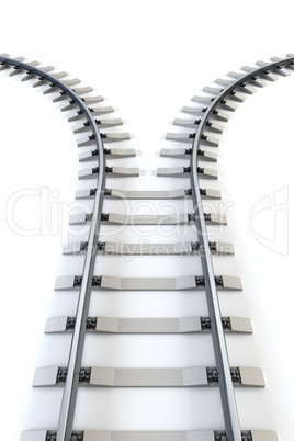 diverging railway