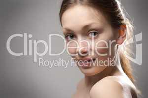 beauty redhaired woman closeup portrait