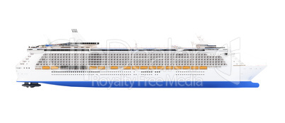 Cruise ship isolated side view