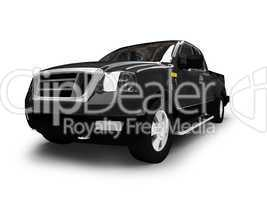FordtF150 isolated black car front view 01
