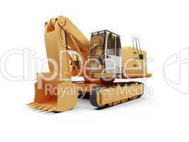 Steam shovel bulldozer