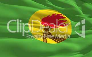 Waving flag of Zaire