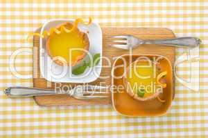 Orangentarts mit Minze