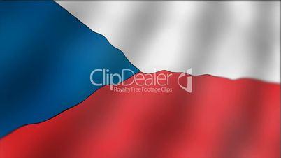Czech Republic - waving flag detail