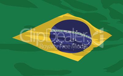Vector flag of Brazil