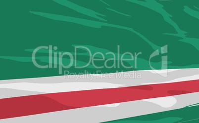 Vector flag of Ichkeria