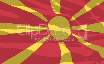 Vector flag of Macedonia