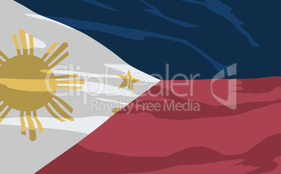 Vector flag of Philippines