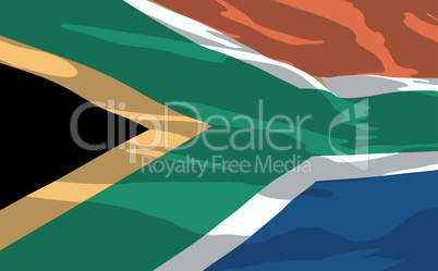 Vector flag of South Africa