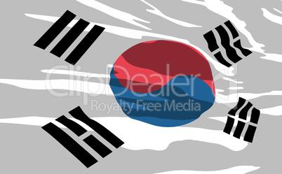 Vector flag of South Korea