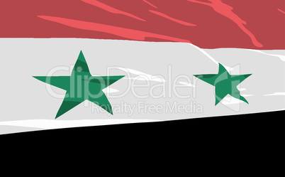 Vector flag of Syria