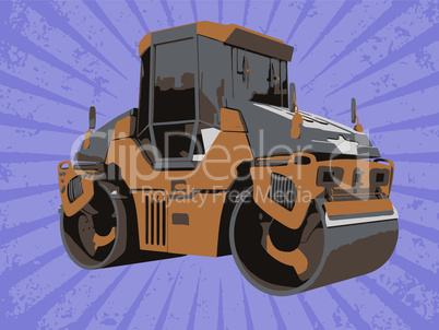 Vector construction vehicle