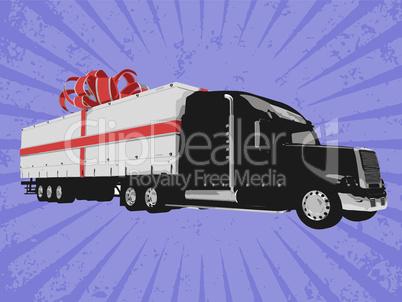 Vector surprise truck
