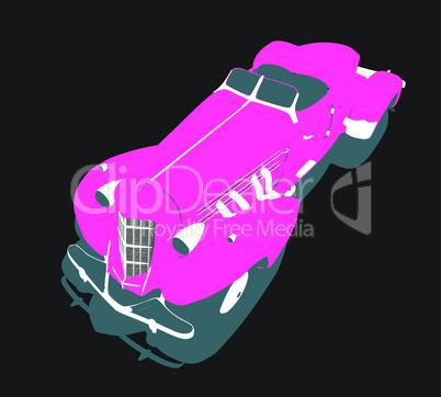 Vector glamour car