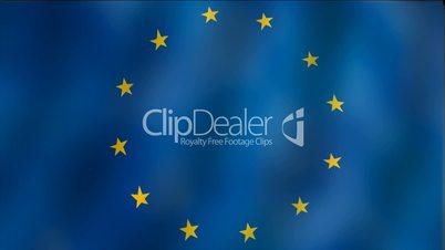 Europe - waving flag detail